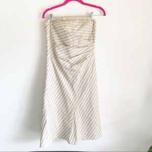 Vintage Kay Unger Strapless 90's Ruched Dress 8